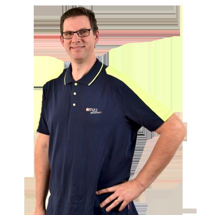 Servicetekniker och ägare Martin Ekztröm